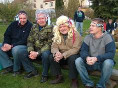 Tvůj hlas má škaredou tvář - členové poroty, zleva: Zdeněk Piškulík, Janek Ledecký, Iva Pazderková, Jakub Kohák.