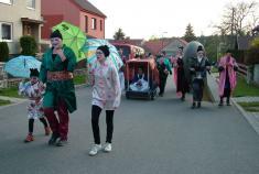 Pálení čarodějnic 2019, tradiční průvod vesnicí.