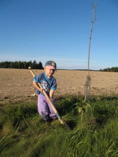 Honzík taky bude mít brzy svůj stromeček ueurocesty.