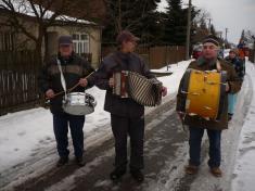 Hudební doprovod ostatkového průvodu, ostatky 2012.