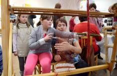 Slavnostní otevření Stálé expozice historie Podomí ajeho významných rodáků - tkaní natkalcovském stavu